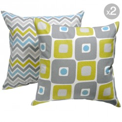 Illusions Summerland Natural + Zoom Zoom Summerland Natural Cushions 45x45cm