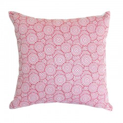 Circles Watermelon Cushion - 43x43cm