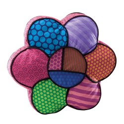 Britto Plush Flower Pillow