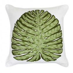 Malibu Leaf Green Cushion - 45x45cm