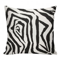 Zebra Black Cushion 45x45cm