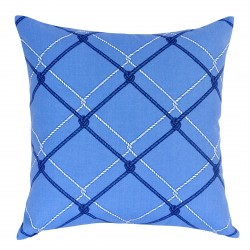 Block Isle Harbor Blue Outdoor Cushion - 45x45cm