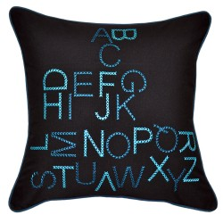 Alpha Teal Cushion - 45x45cm