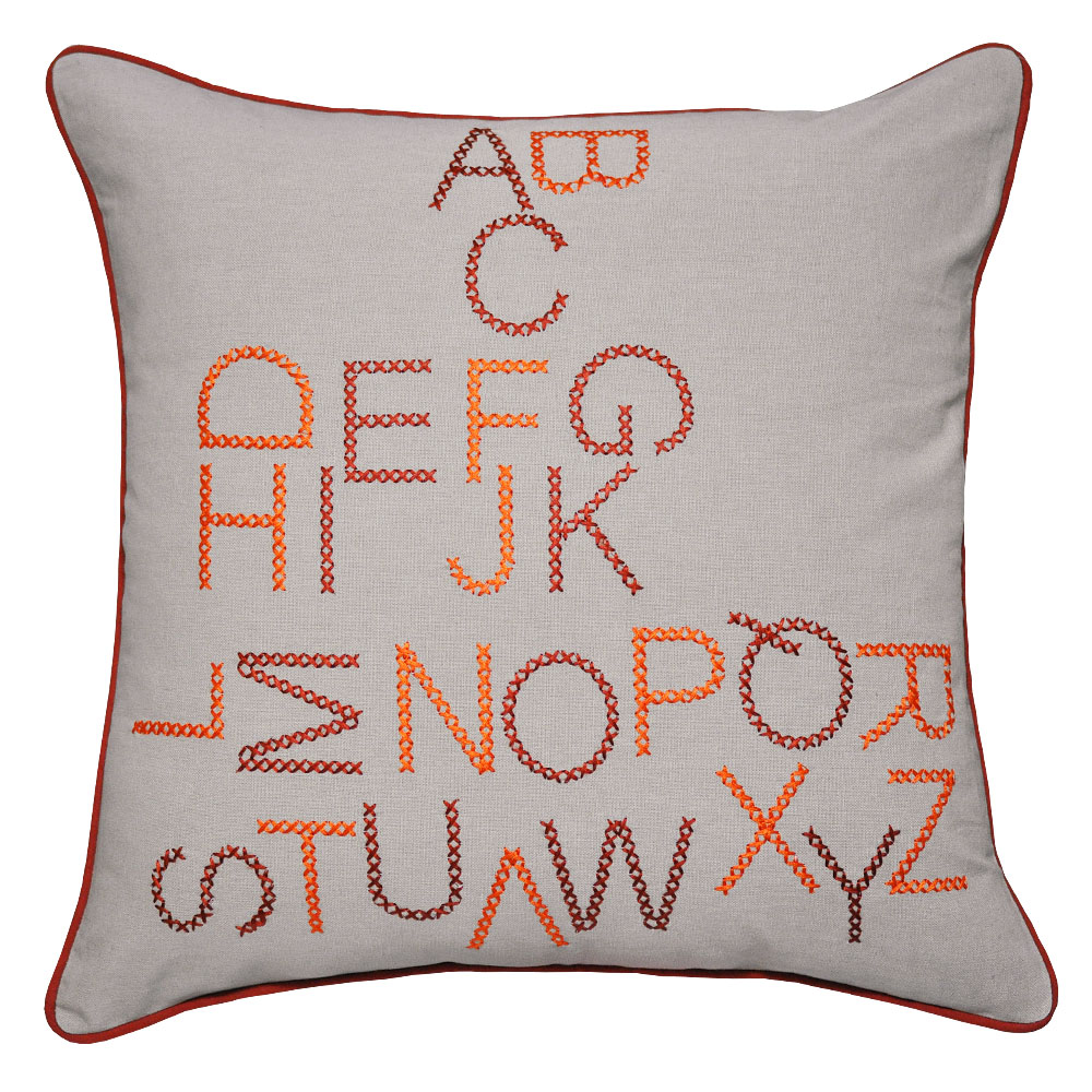 Alpha Orange Cushion - 45x45cm