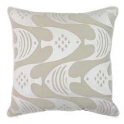 Fish Fish Neutral Cushion - 45x45cm