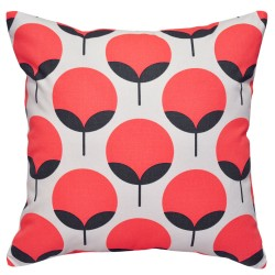 Caroline Salmon Charcoal Cushion - 45x45cm