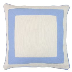 Squared Blue Cushion 45x45cm