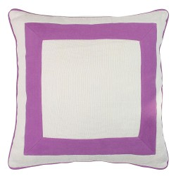 Squared Purple Cushion - 45x45cm