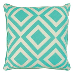 Diamonds Turquoise Cushion - 45x45cm