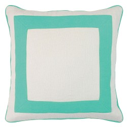 Squared Turquoise Cushion - 45x45cm
