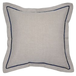 Hampton Navy Cushion - 45x45cm