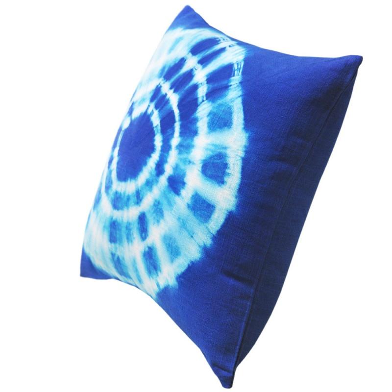 Tie Dyed Blue Cushion 45x45cm Hupper