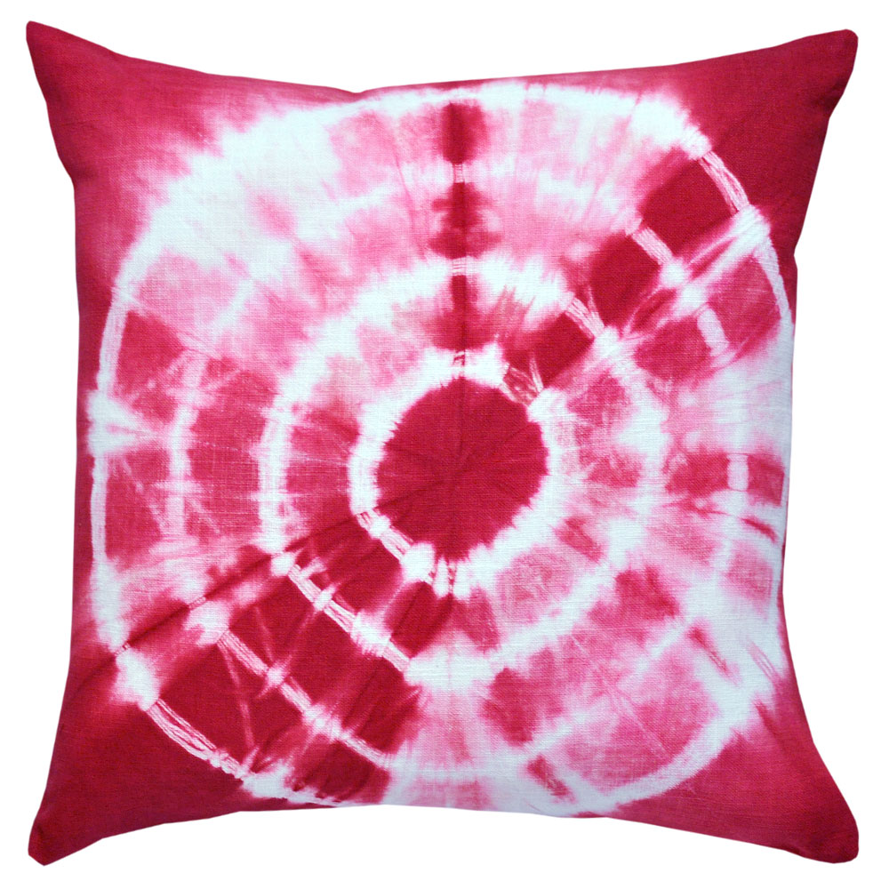 Tie Dyed Red Cushion 45x45cm Hupper