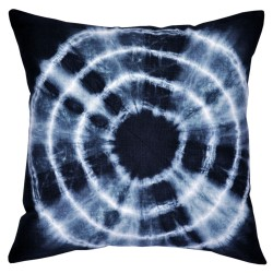 Tie-Dyed Black Cushion - 45x45cm