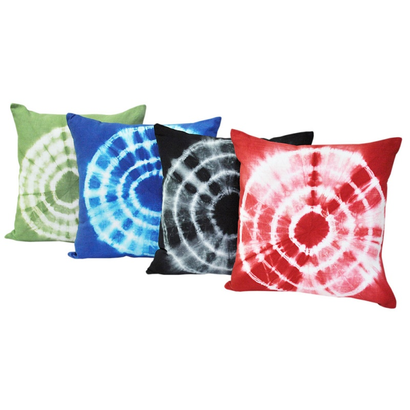 Tie Dyed Black Cushion 45x45cm Hupper