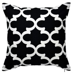 Fynn Black White Cushion - 45x45cm