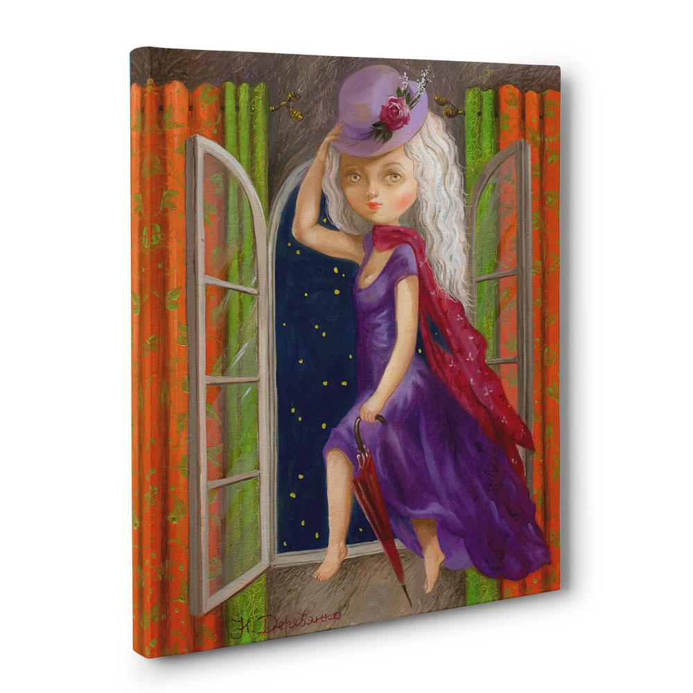 The Little Canvas: Little Witch Canvas Print 30x40cm