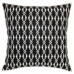 Beach Hut Black Cushion - 45x45cm