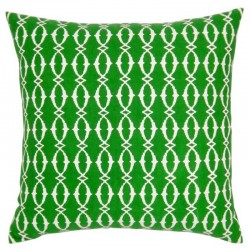 Beach Hut Emerald Cushion - 45x45cm