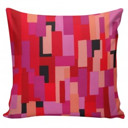 Pink Rectangles Cushion - 45x45cm