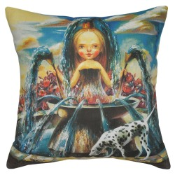 Aquarius Woman Cushion - 40x40cm