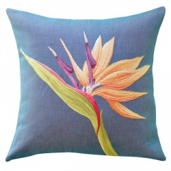 Paradise Flower Tapestry Cushion - 48x48cm