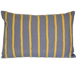 Yellow Stitched Ribbon Cushion - 30x50cm